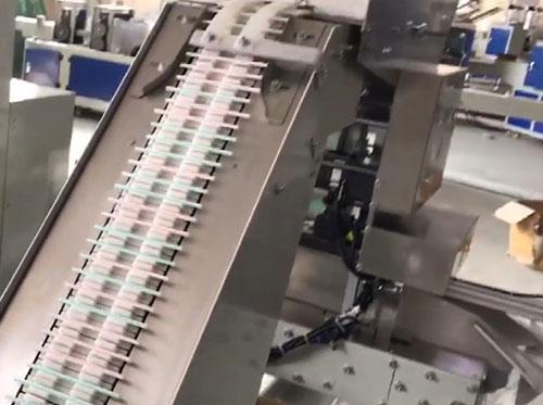 温州自动吸管包装机视频